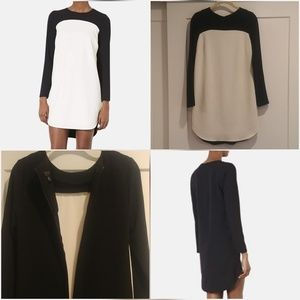 Topshop, Crepe Tunic Dress Black & White